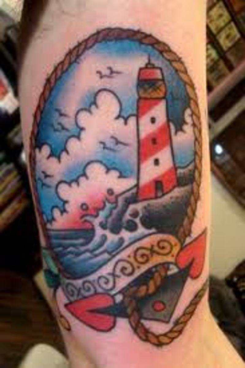 ca5a371b80f08 Lighthouse Tattoo Designs, Ideas, and Meanings | TatRing