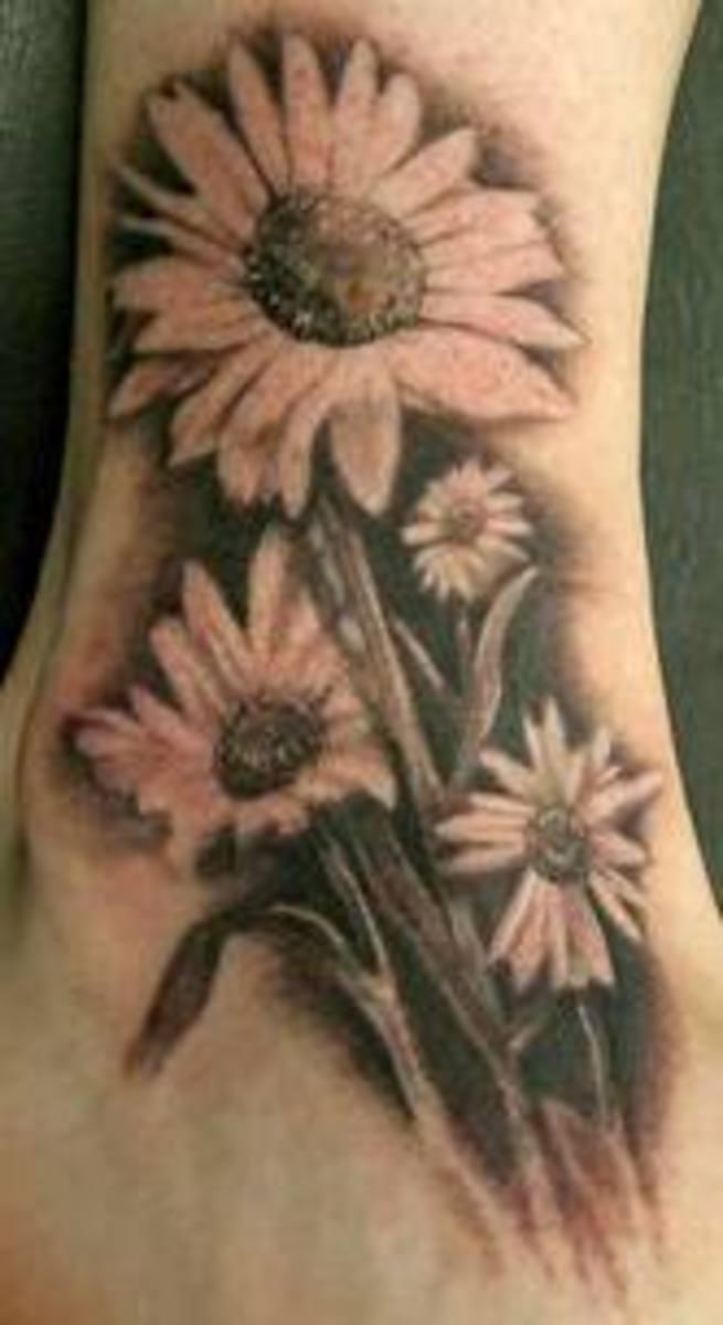 daisyflowertattoodesignsphotos