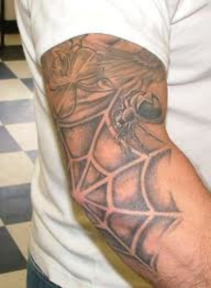 Spider Web Tattoos And Meanings-Spider Web Tattoo Ideas And Pictures