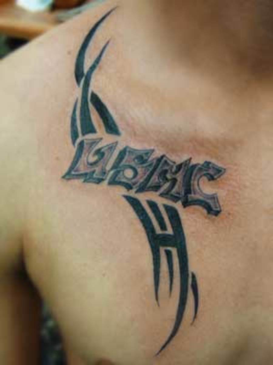 """USMC"" tribal style tattoo"