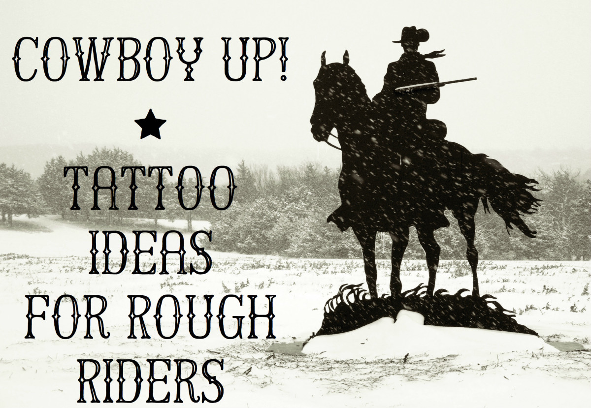 Wild West Tattoos: Cowboys, Horses, Bulls and More