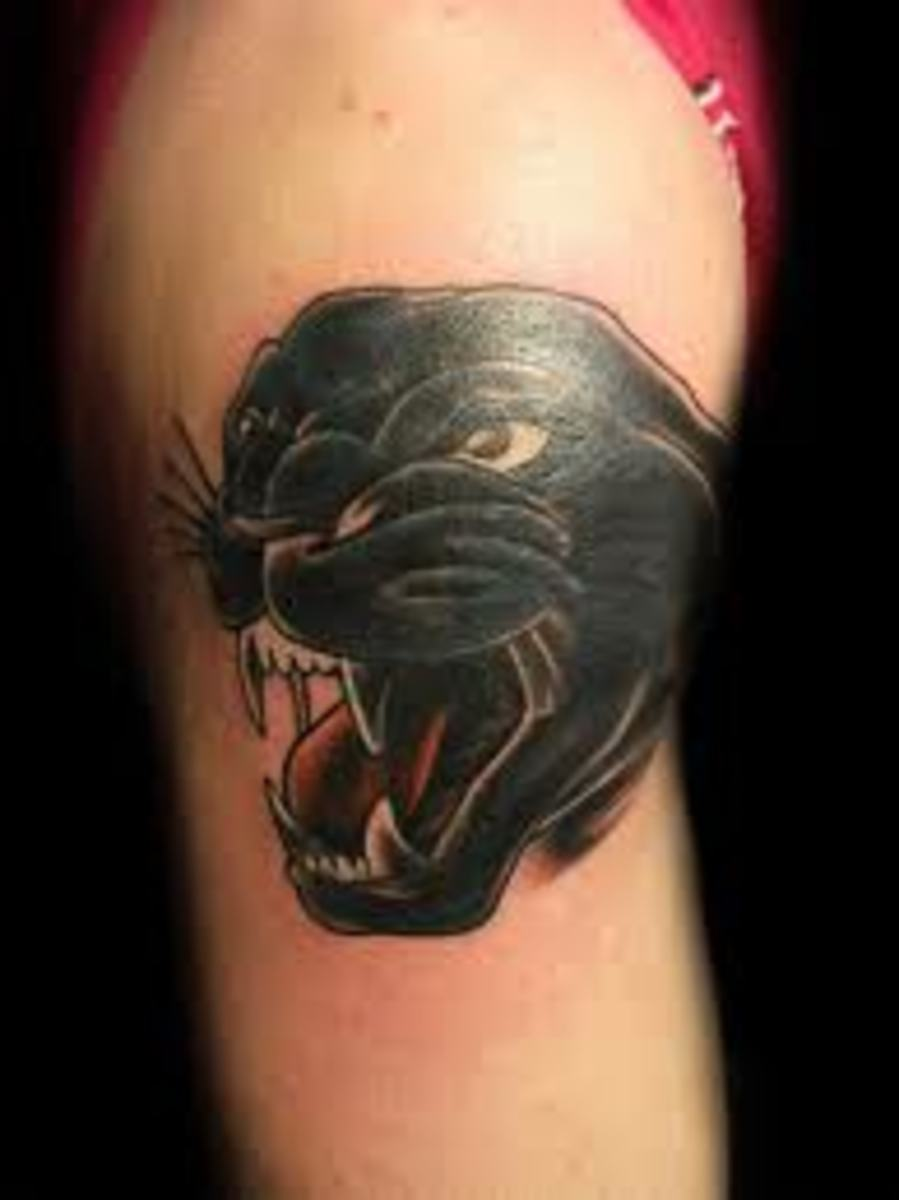 panther tattoo designs and meanings tatring. Black Bedroom Furniture Sets. Home Design Ideas