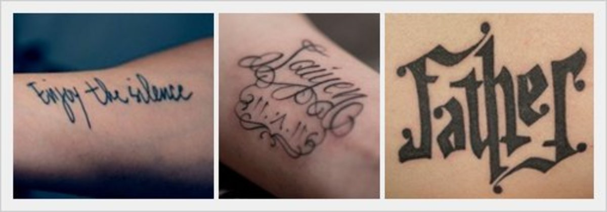 Tattoo Text Ideas: Tattoo Ideas & Tips: Text, Lettering, Script & Quotes