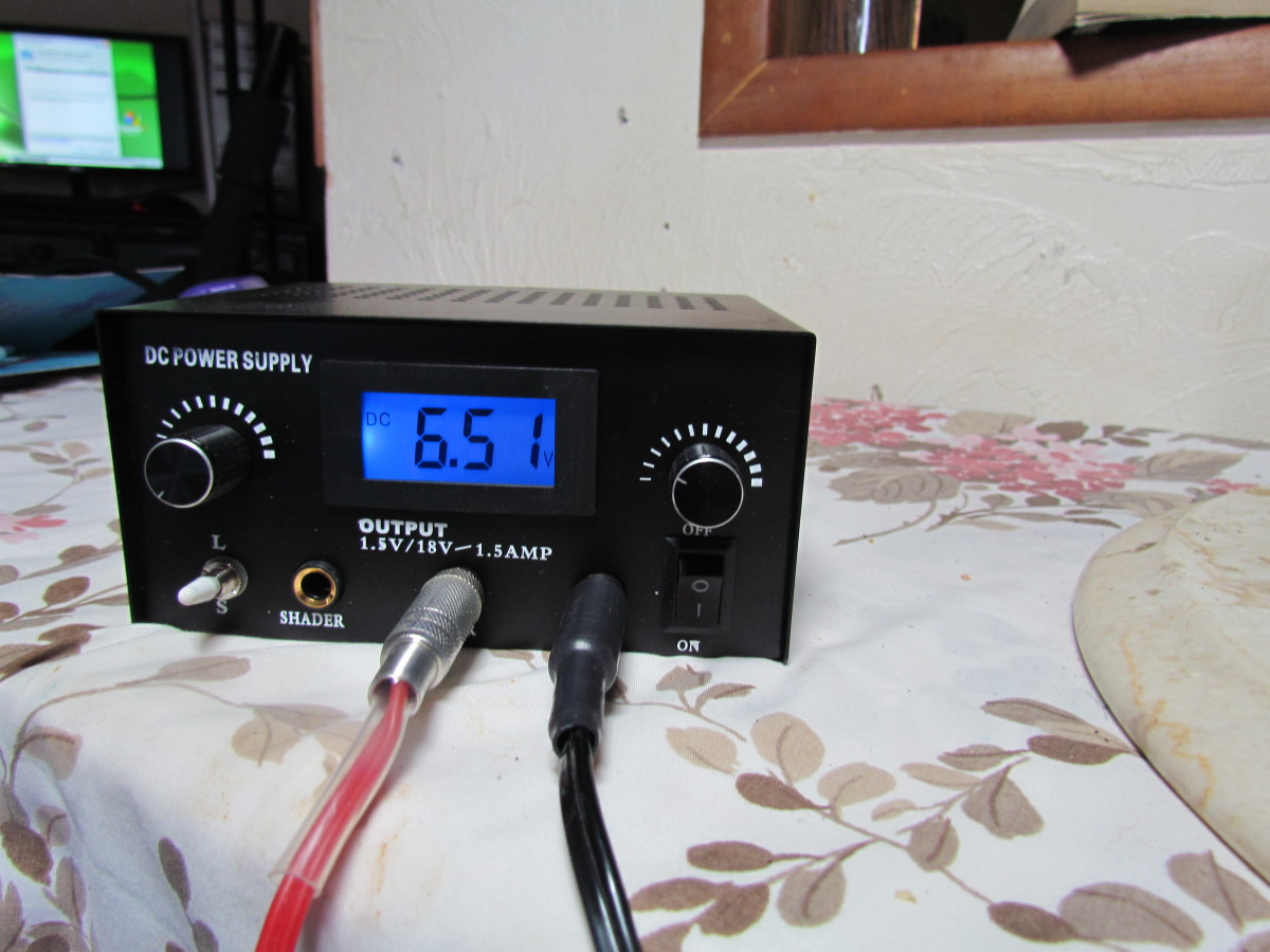 Here is my power supply not drawing any electrical current.