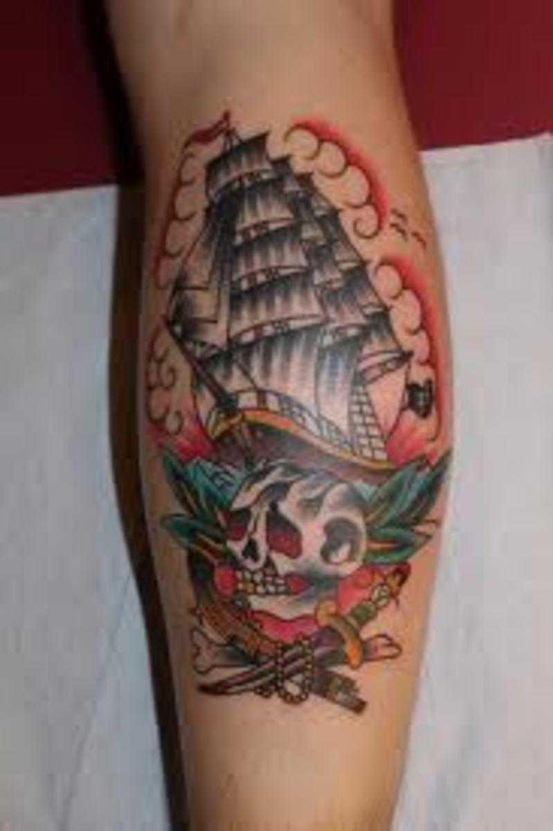 idei-dlya-tatuirovok - Корабль татуировки: дизайнерские идеи и смыслы -  - фото