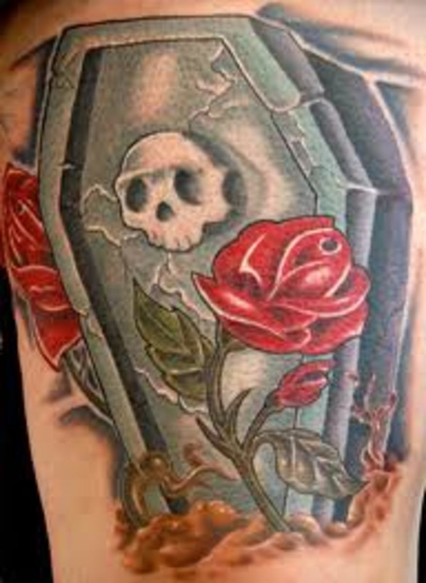 Coffin Tattoos And Meanings-Coffin Tattoo Designs And Ideas-Coffin Tattoo Pictures
