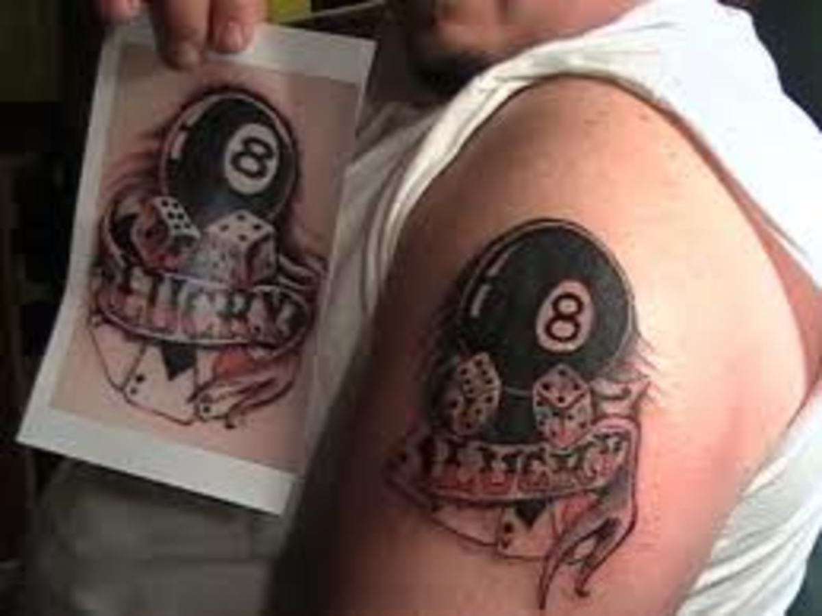 Eight Ball Tattoos Ideas Meanings And Pictures Tatring