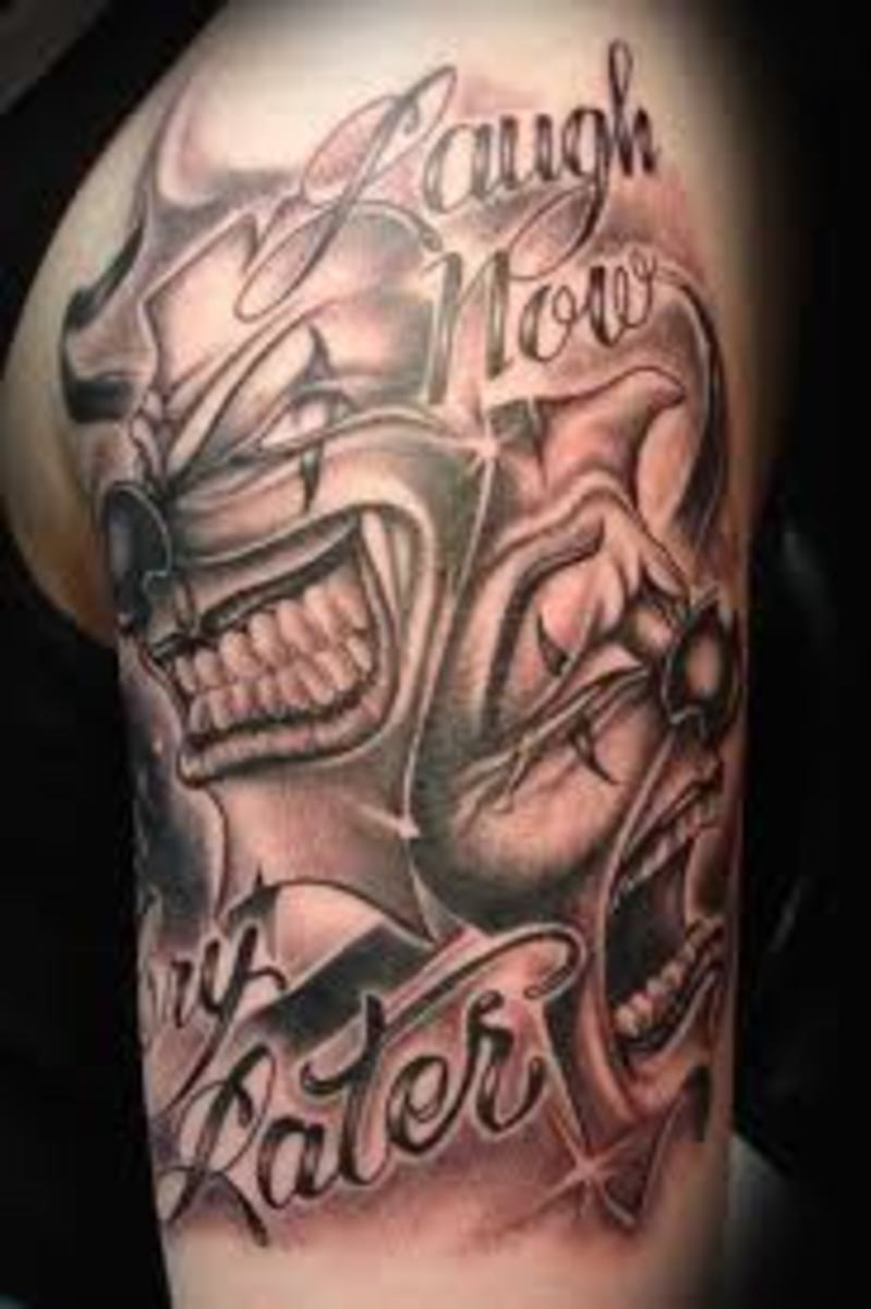 Clown Tattoos And Meanings-Clown Tattoo Designs And Ideas-Clown Tattoo Images