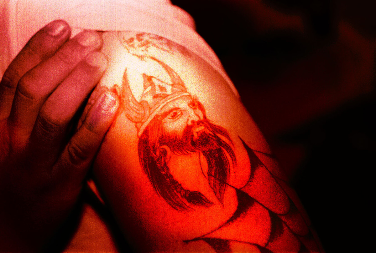Viking tattoo.