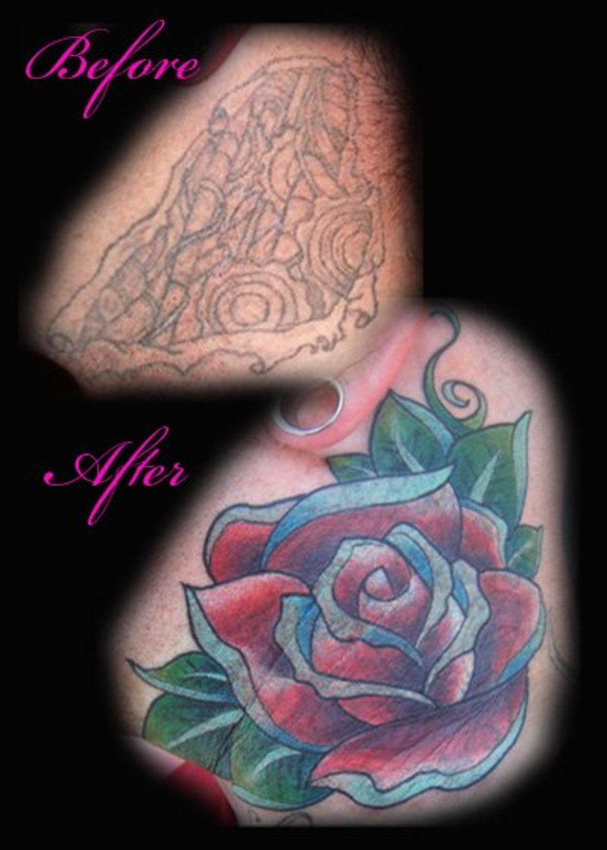 a beautiful rose to cover up a new tattoo