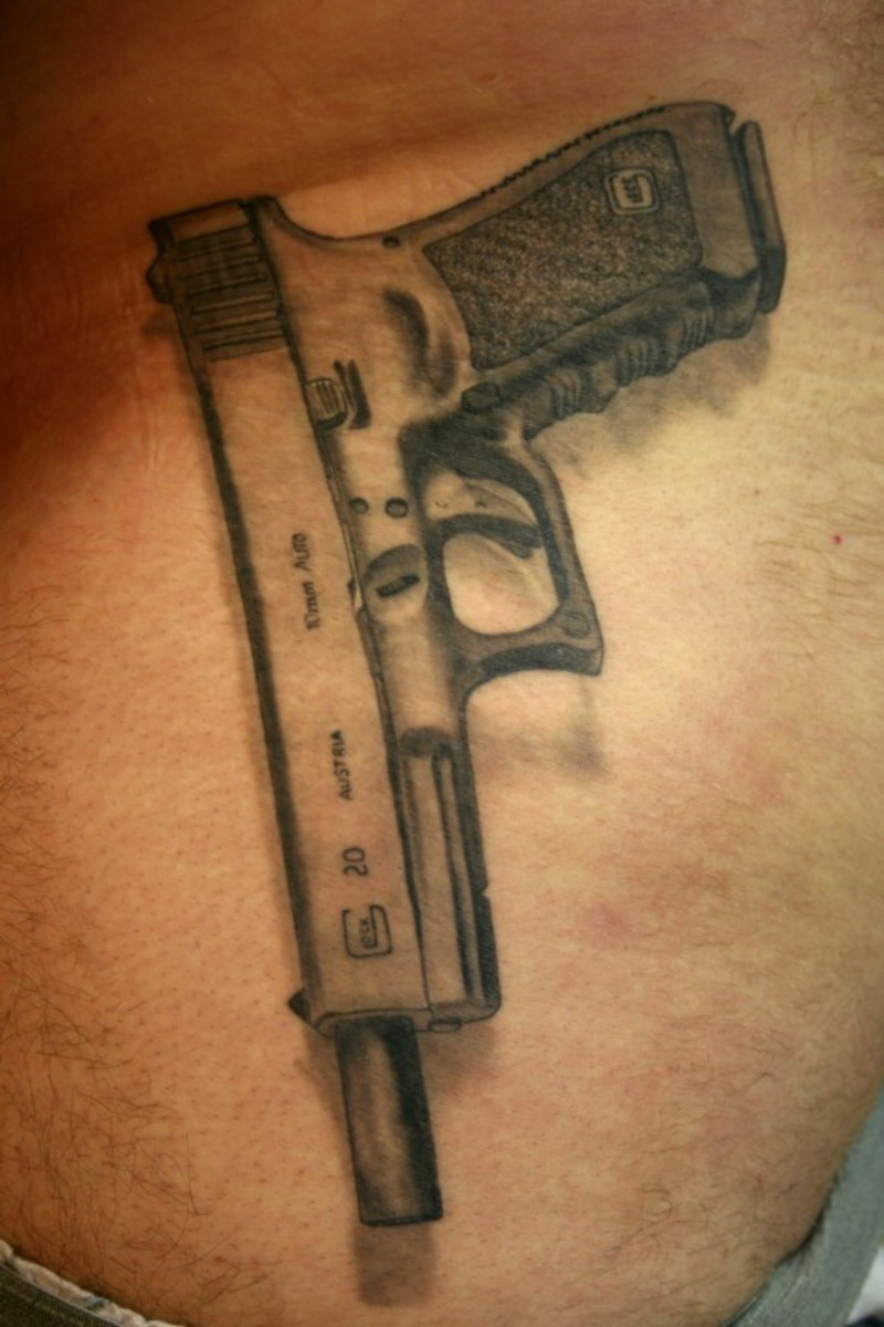 Pistol and Revolver Tattoo Designs