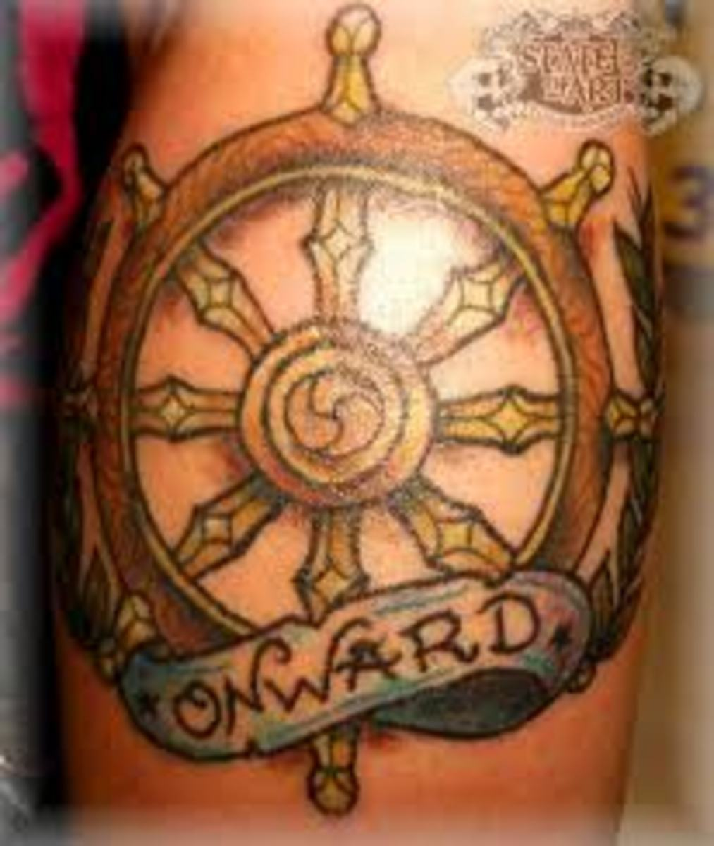 Ship's Wheel Tattoos—Designs and Meanings | TatRing