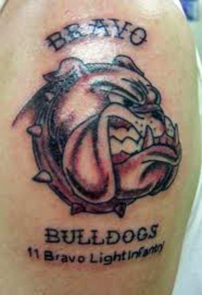 Bulldog Tattoos And Designs-Bulldog Tattoo Meanings And ...