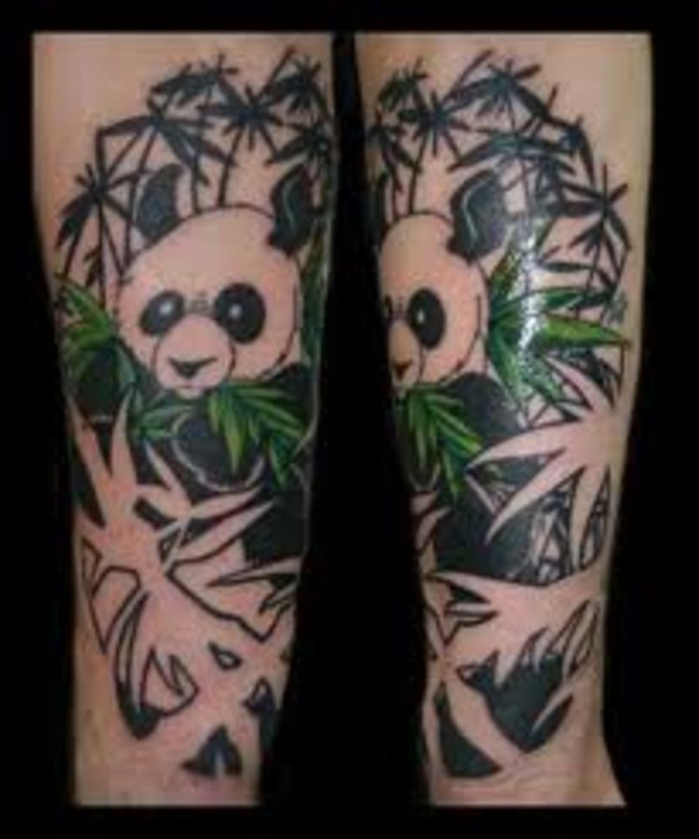Panda Bear Tattoos And Meanings-Panda Bear Tattoo Designs And Ideas-Panda Tattoo Images