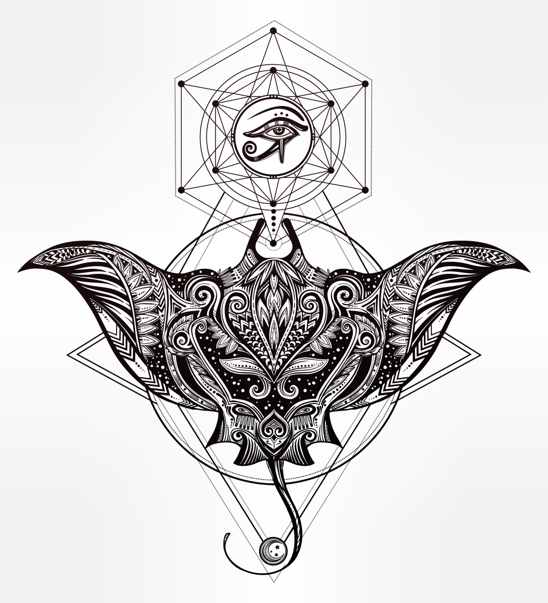 Stingray Tattoo Design Ideas