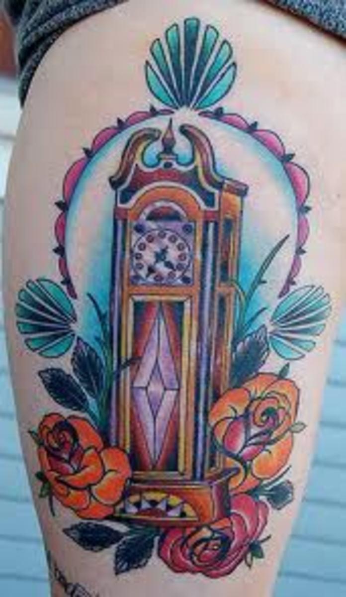 New Haven Alarm Clock THE TATTOO Intermittent. 19th ...  |Alarm Clock Tattoo