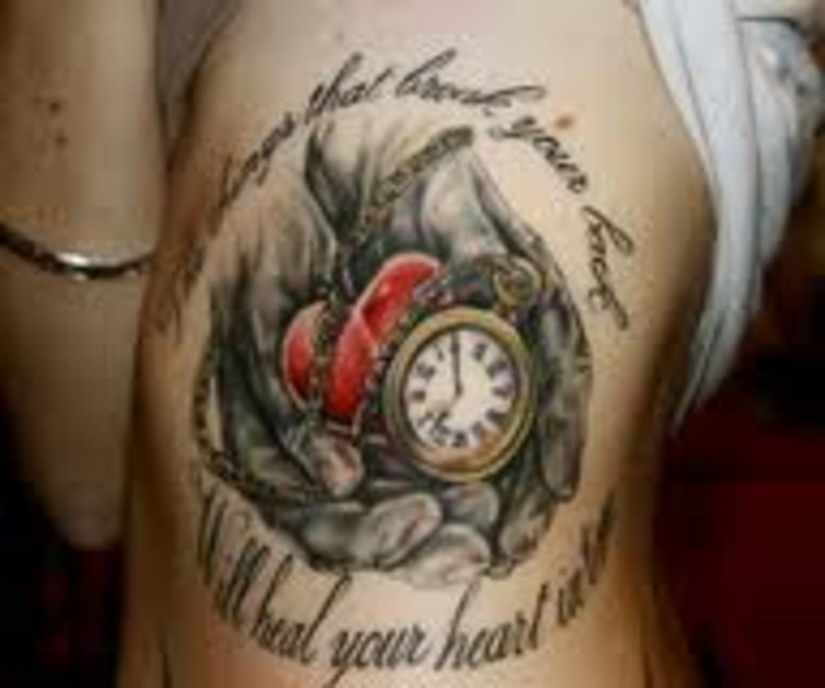 Clock and heart.