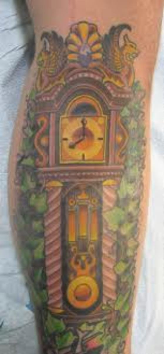 Grandfather clock.