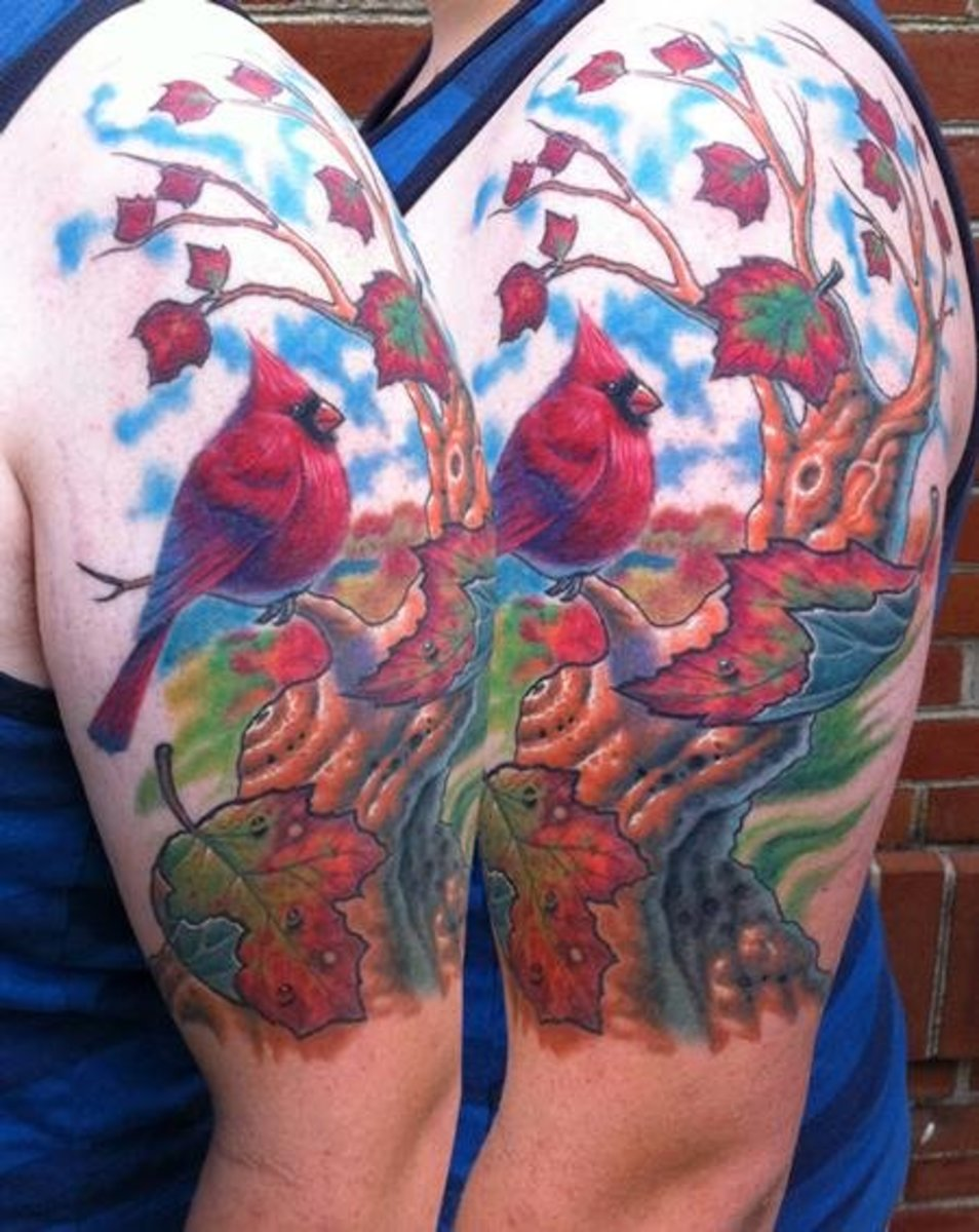 Seasonal tattoo designs ideas autumn tatring for Fall tree tattoo
