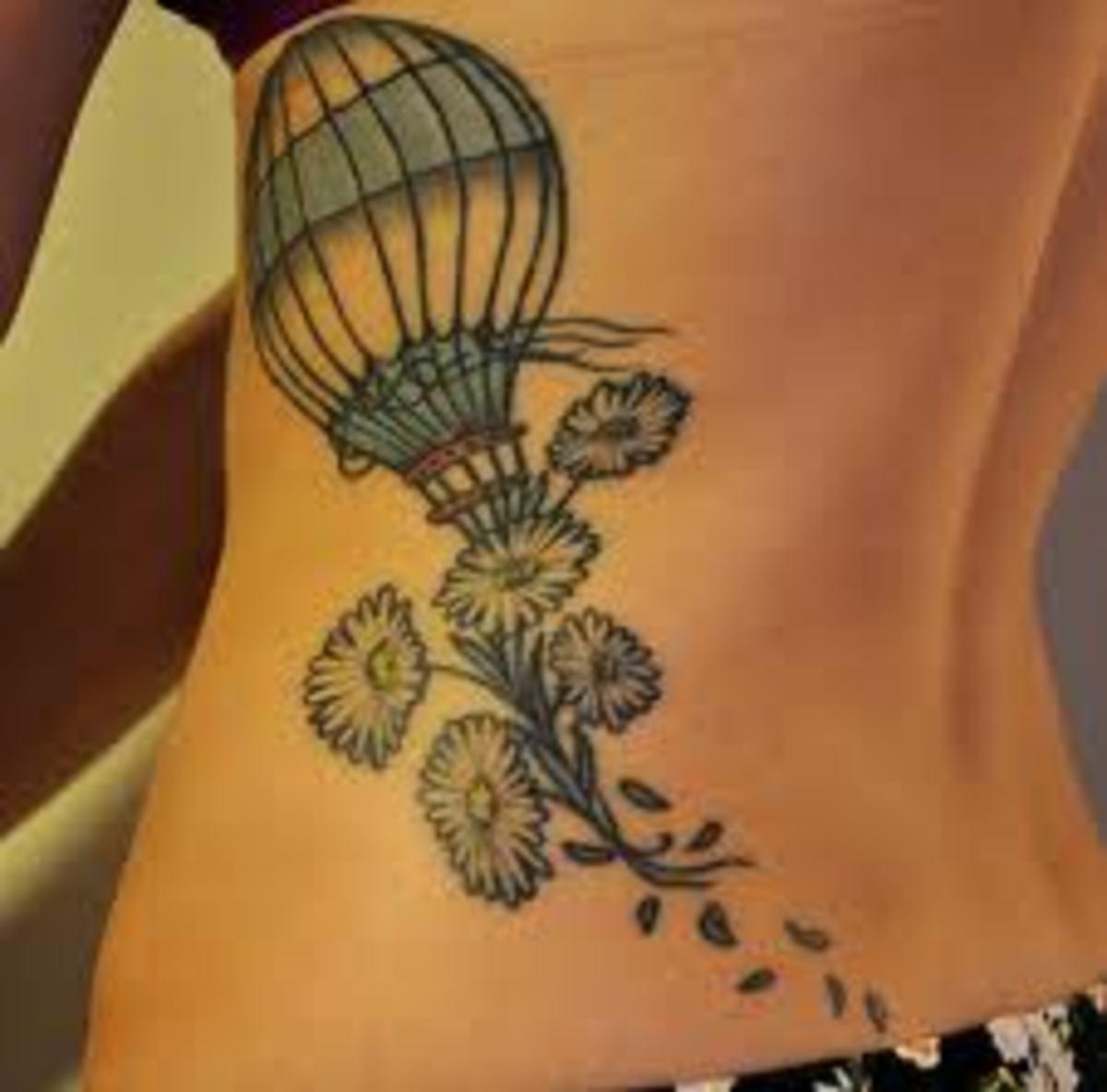 idei-dlya-tatuirovok - Воздушный шар татуировки: значение, эскизы, рисунки и идеи -  - фото