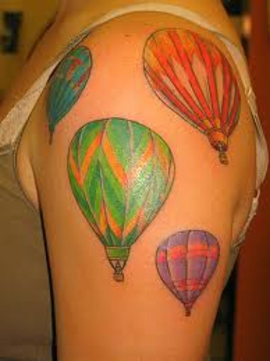 Balloon Tattoos And Designs-Balloon Tattoo Meanings And Ideas-Balloon Tattoo Pictures