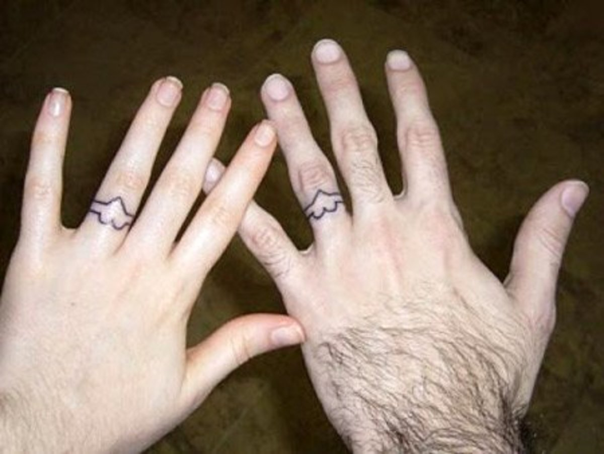 Heart ring tattoo idea