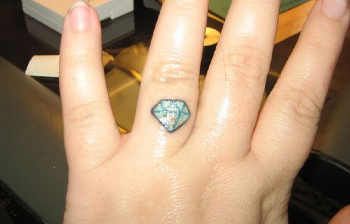 Engagment ring tattoo