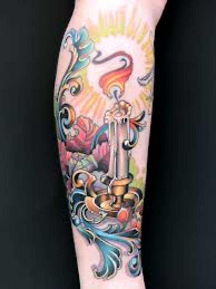 Candle Tattoos Meanings Designs and Ideas TatRing