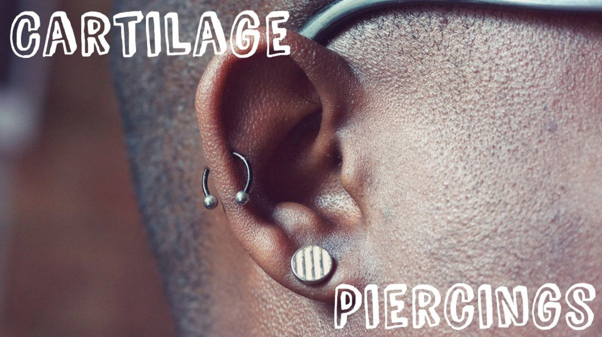 Ear and Nose Cartilage Piercings: Pain and Care
