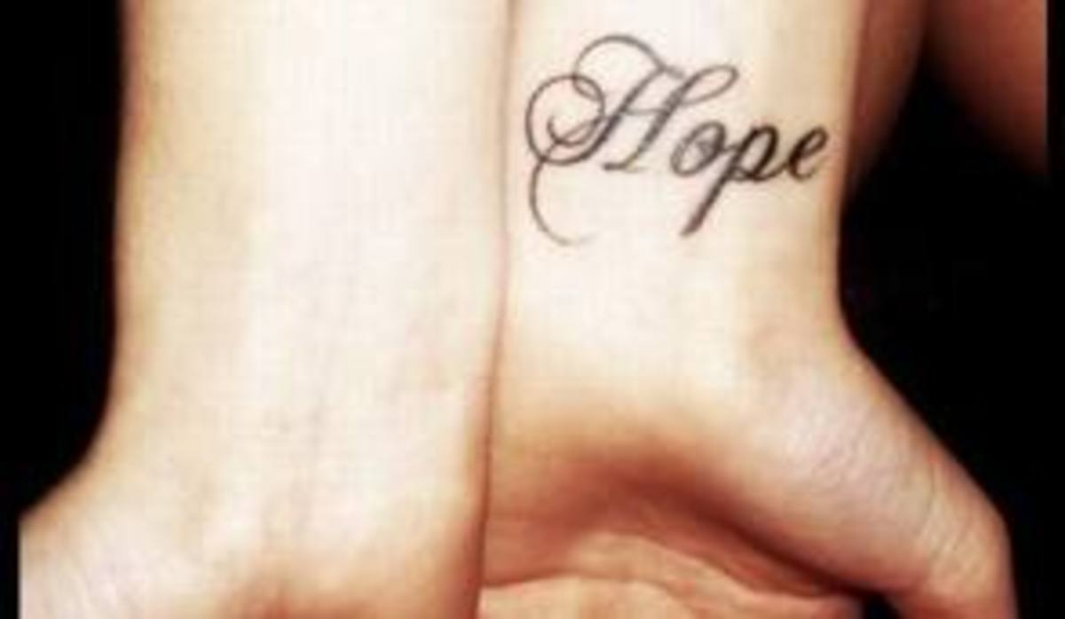 Hope Tattoo Designs, Meanings, Ideas, and Pictures