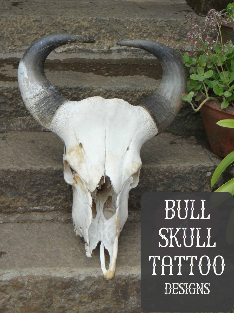 A bull skull tattoo can represent strength, death, protection, and courage.
