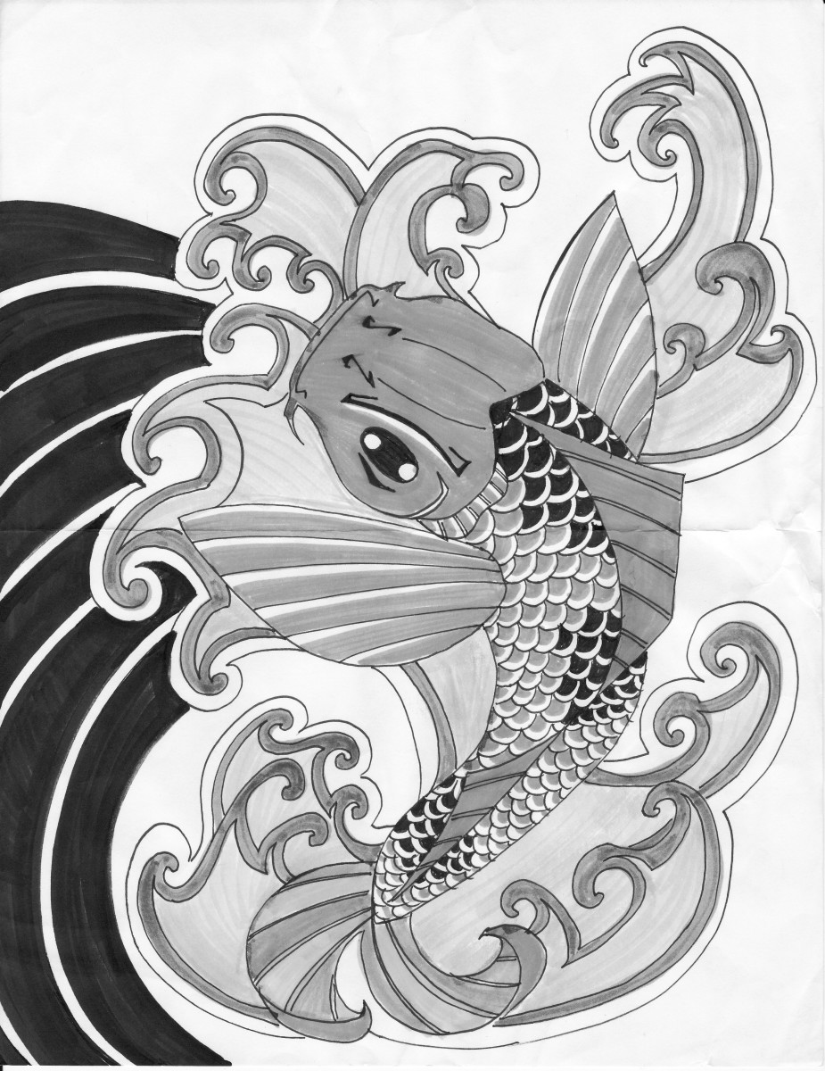 Koi fish tattoo meaning color direction and more for Koi meaning japanese