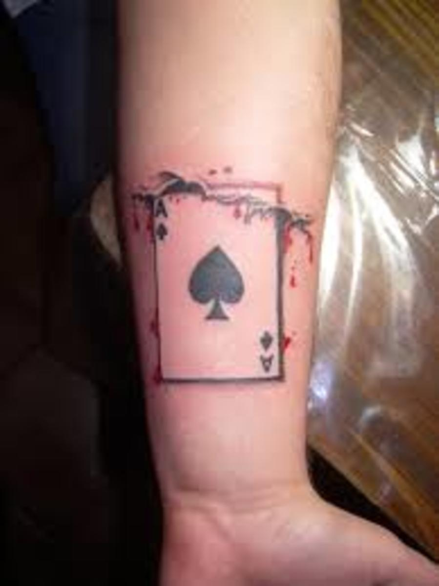 Ace of spades tattoo designs ideas and meanings