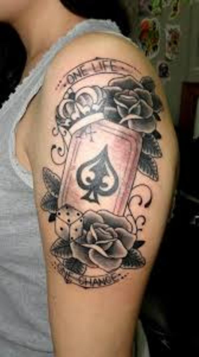ace of spades tattoos designs ideas and meanings tatring. Black Bedroom Furniture Sets. Home Design Ideas