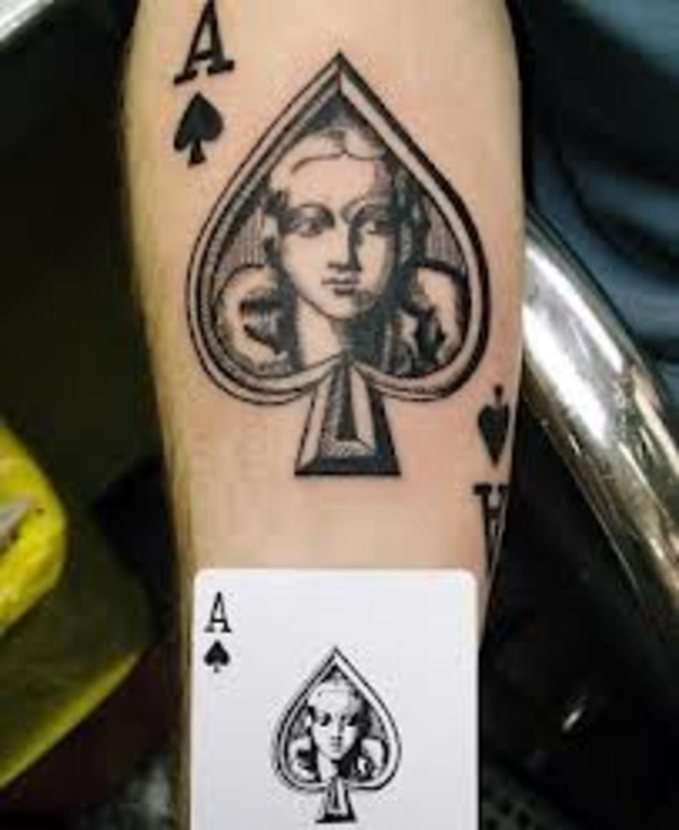 idei-dlya-tatuirovok - Туз пик татуировки: проекты, идеи и смыслы -  - фото
