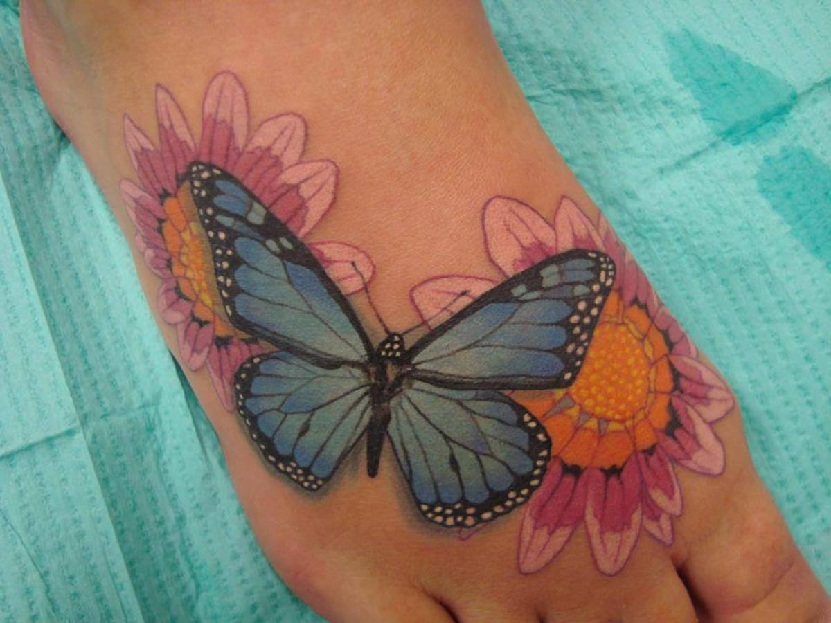 Butterfly and flowers, simple yet beautiful