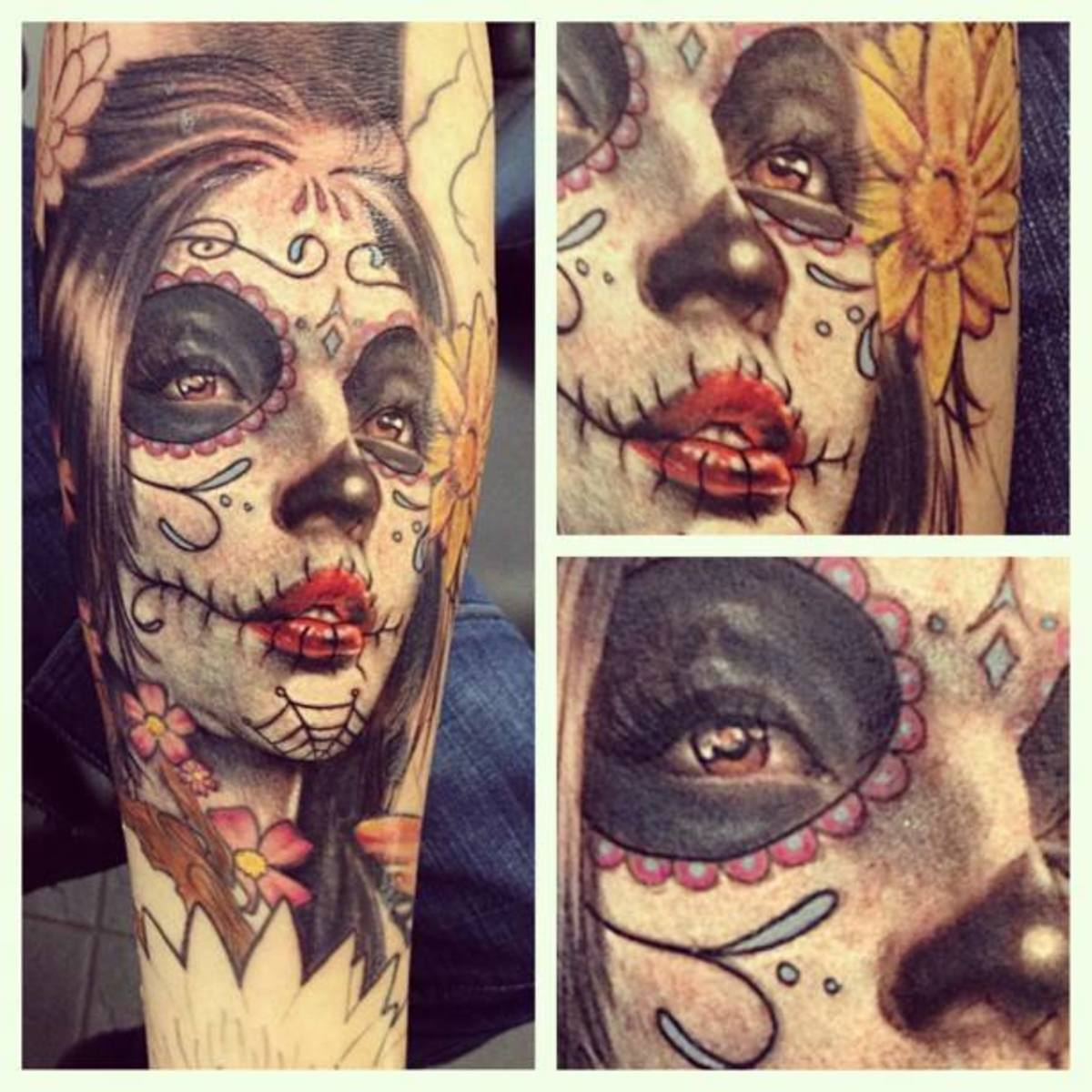 Day of the Dead lady on forearm