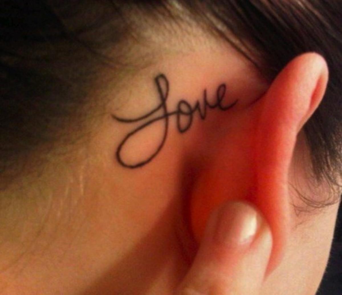 Scripting of words of love, hope and belief