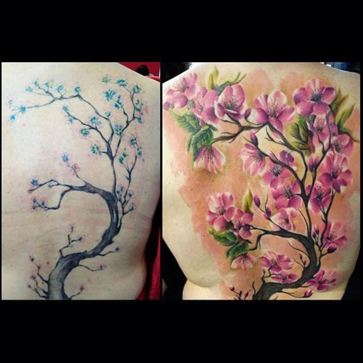 Tree tattoo reworked