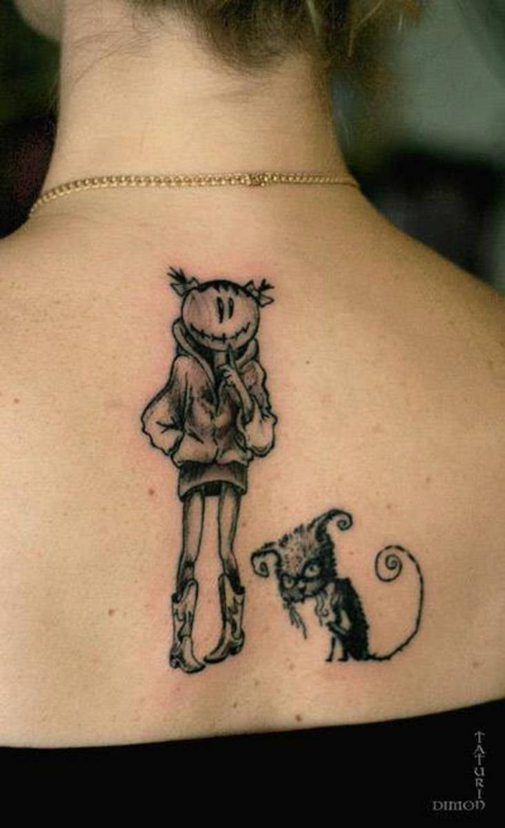 Quirky tattoo.