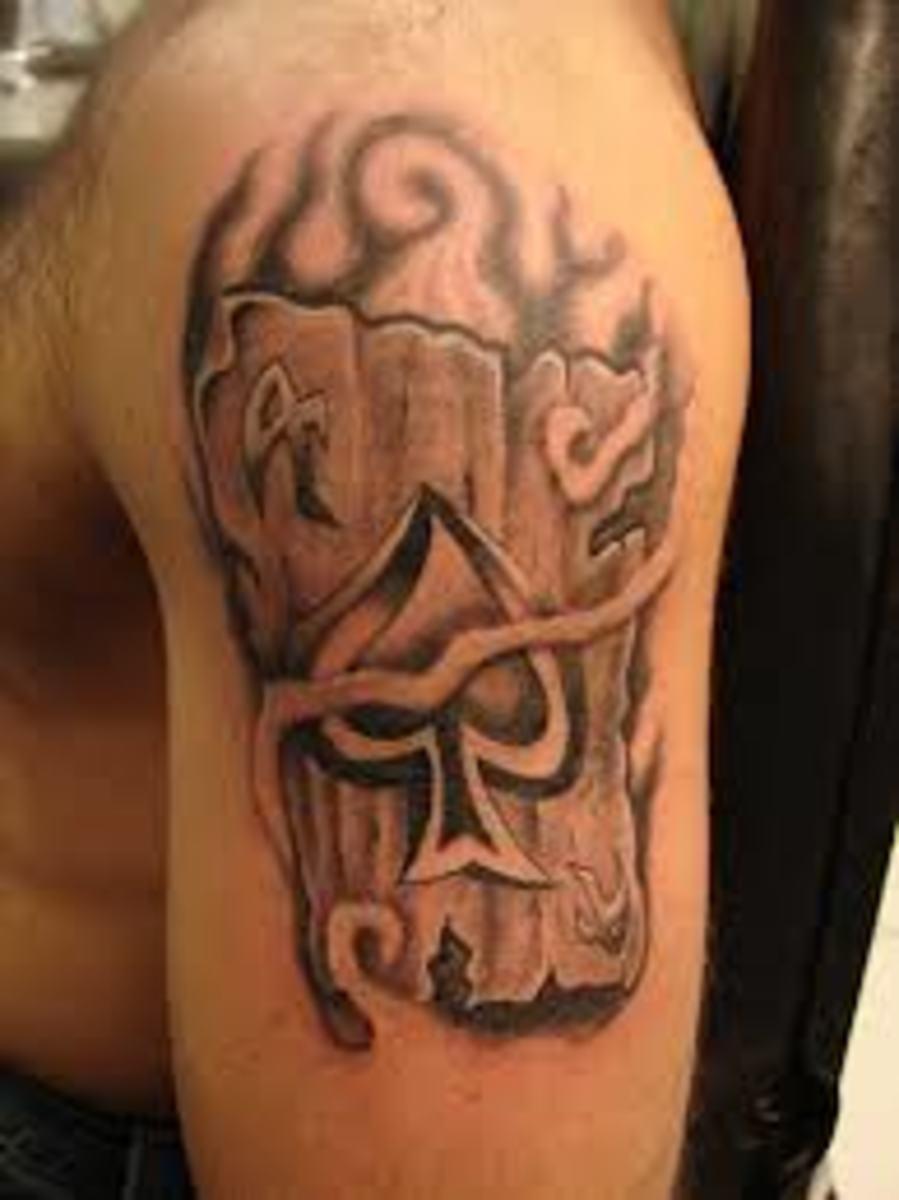 idei-dlya-tatuirovok - Пик и Туз татуировки именами: смыслы, проекты и идеи -  - фото
