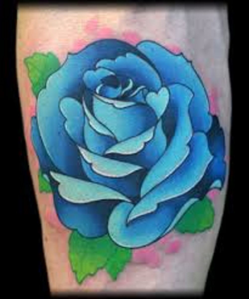 175fa120e Blue Rose Tattoo Designs and Ideas | TatRing