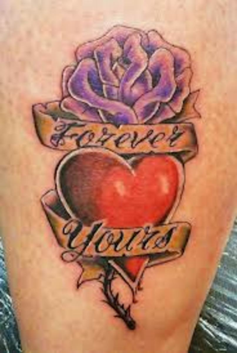 heart and rose tattoos and designs heart and rose tattoo ideas meanings and pictures hubpages. Black Bedroom Furniture Sets. Home Design Ideas
