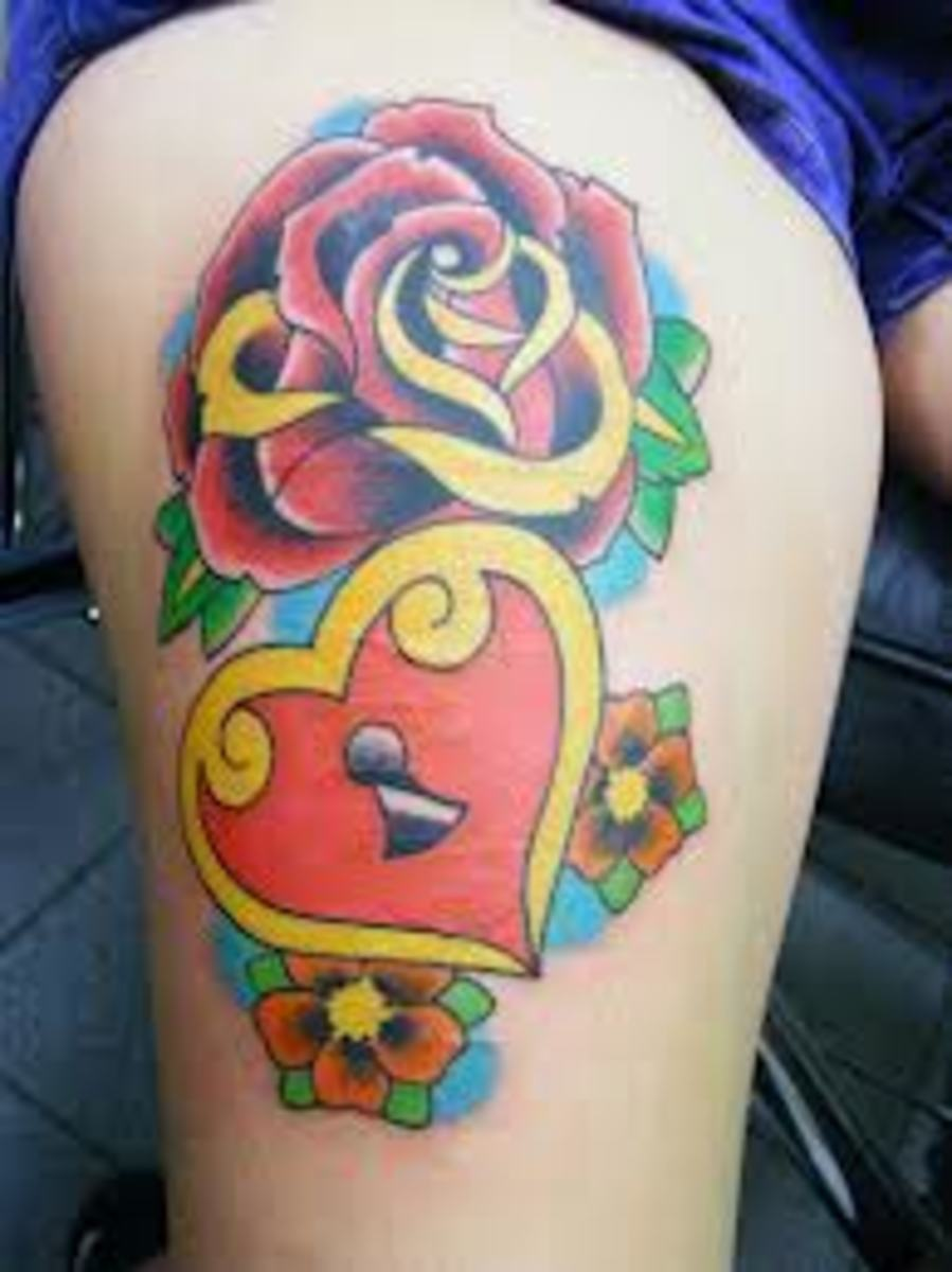 Heart And Rose Tattoo Design Ideas Meanings And Pictures Tatring