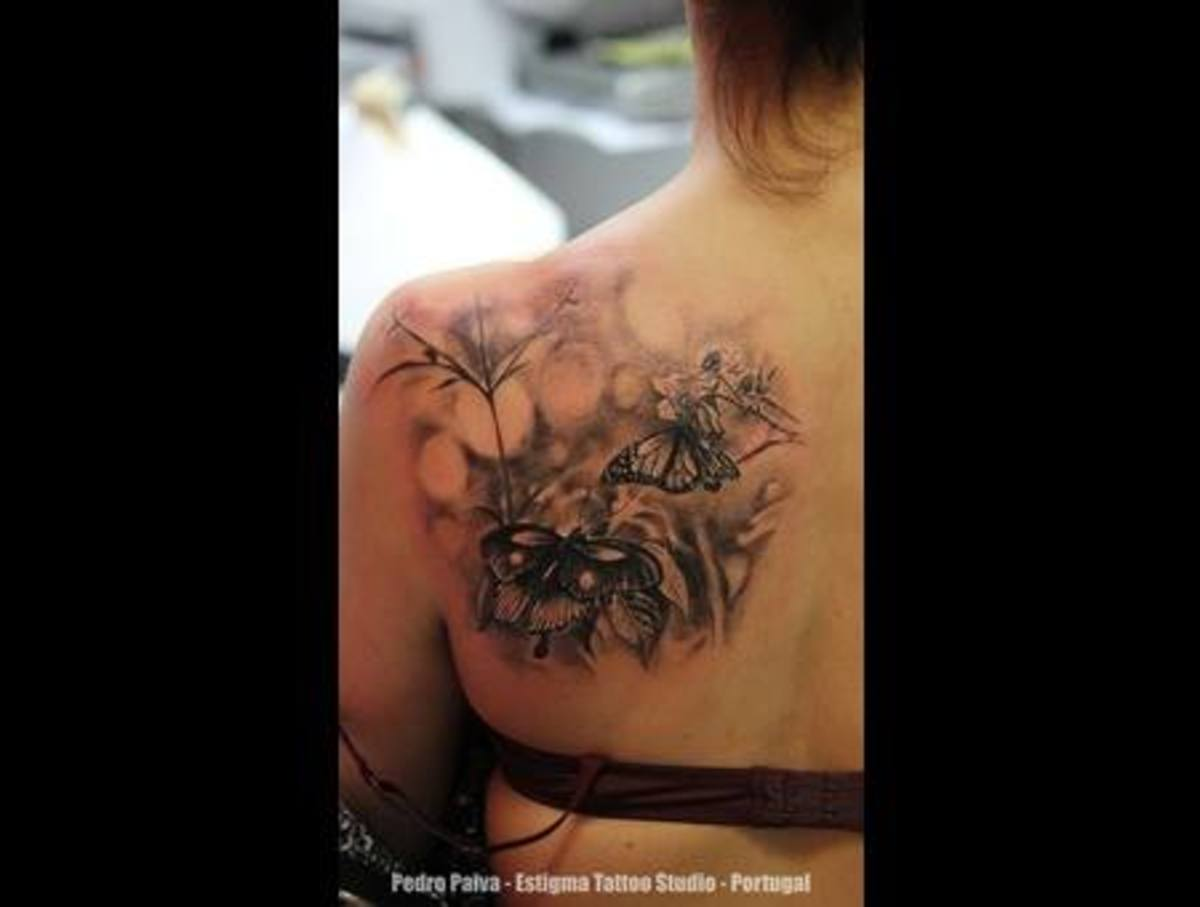 Another gorgeous tattoo that has been created using black shading. A tattoo like this would take approx. 4 hours.