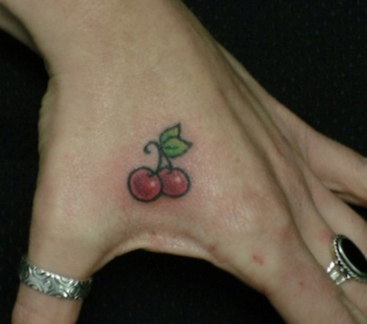 Is anything sweeter then a cherry? But will this look so cool when this person is 70?