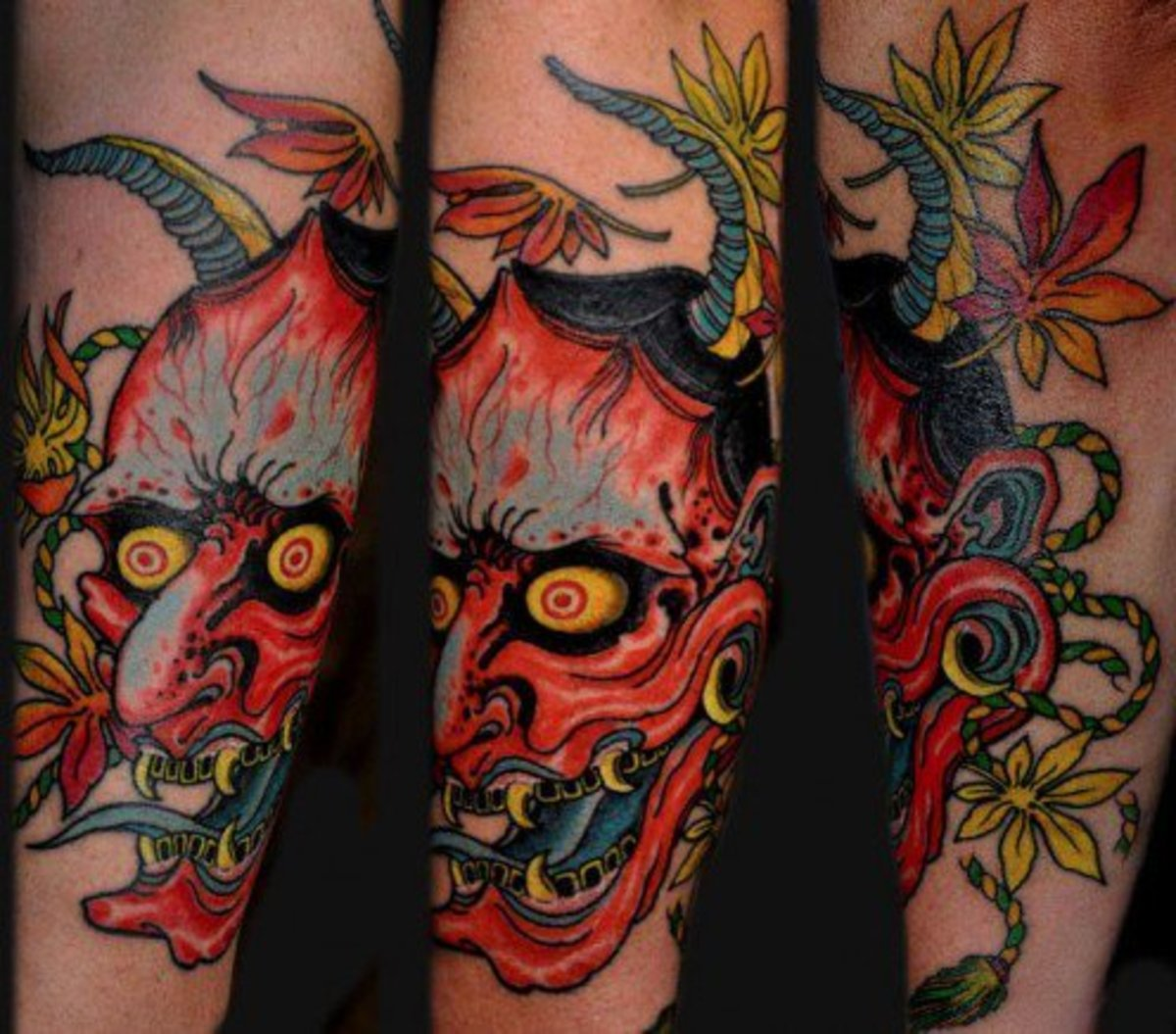 Hannya sleeve tattoo design
