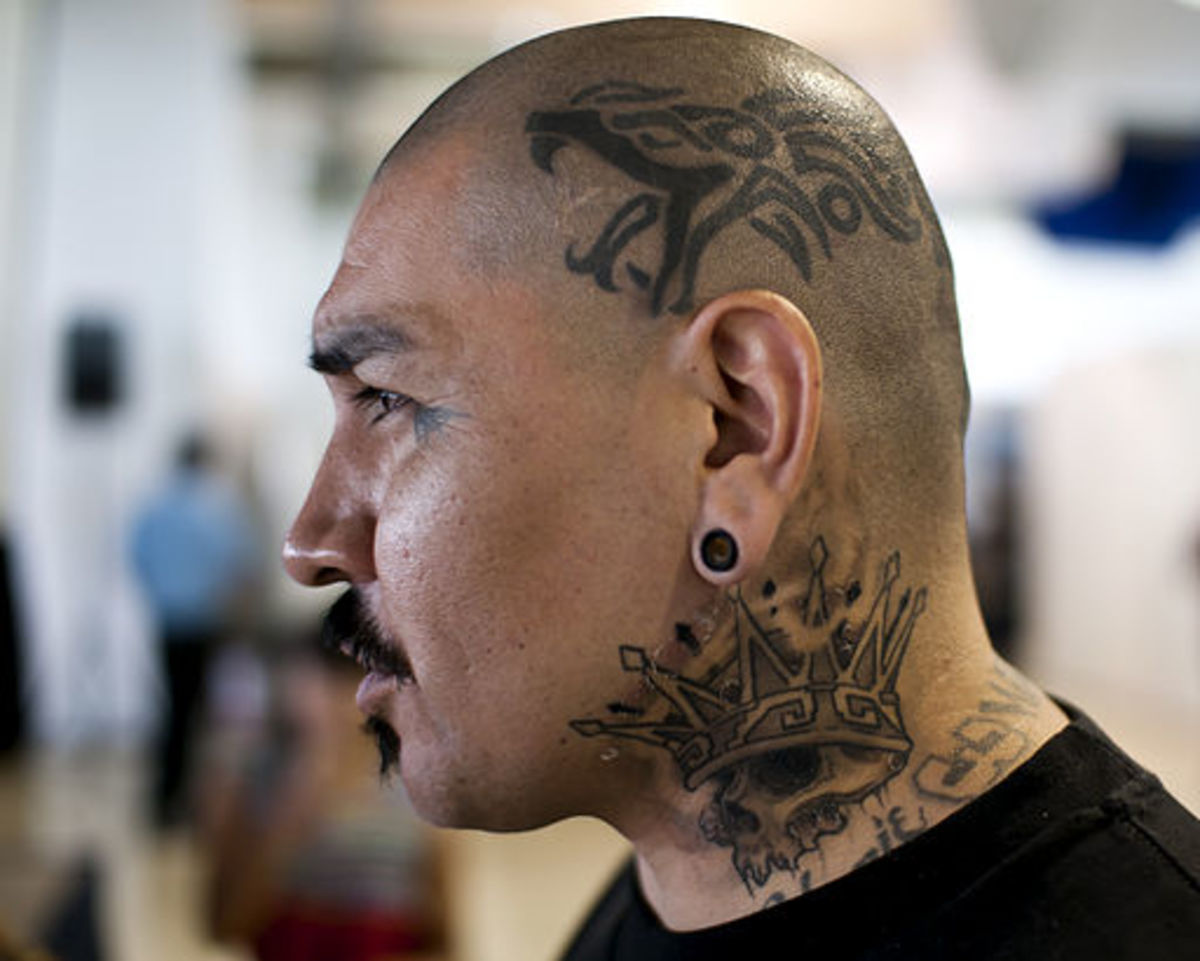 Dragon tattoos on this man's head caused many painful moments!