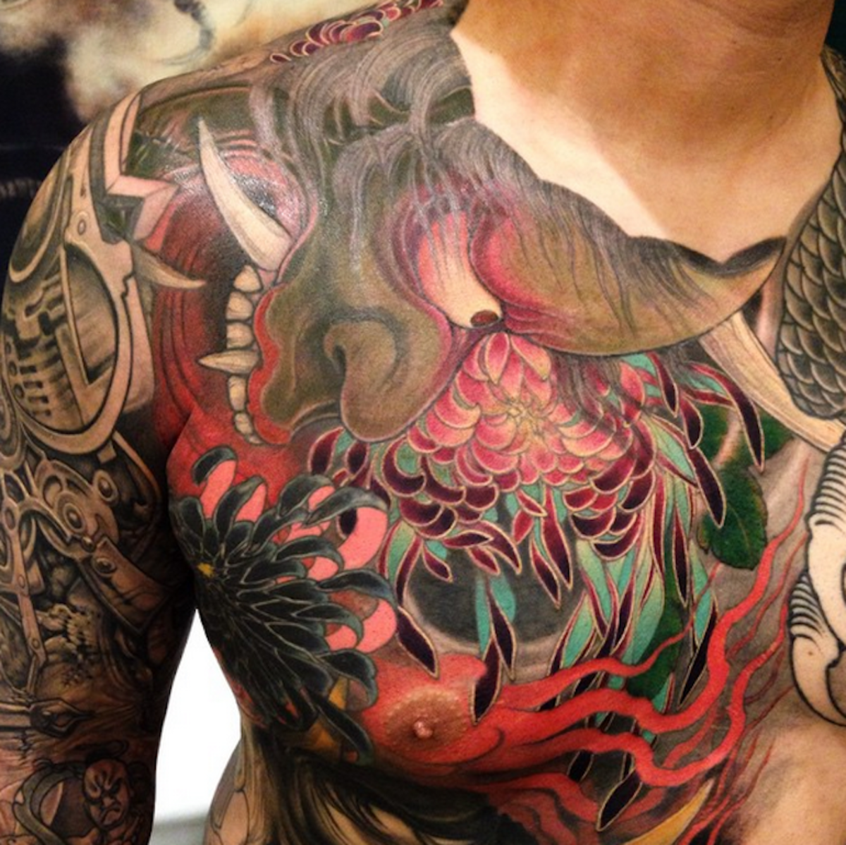 Shige Iwasaki, or Yellow Blaze, a self taught tattoo artist.