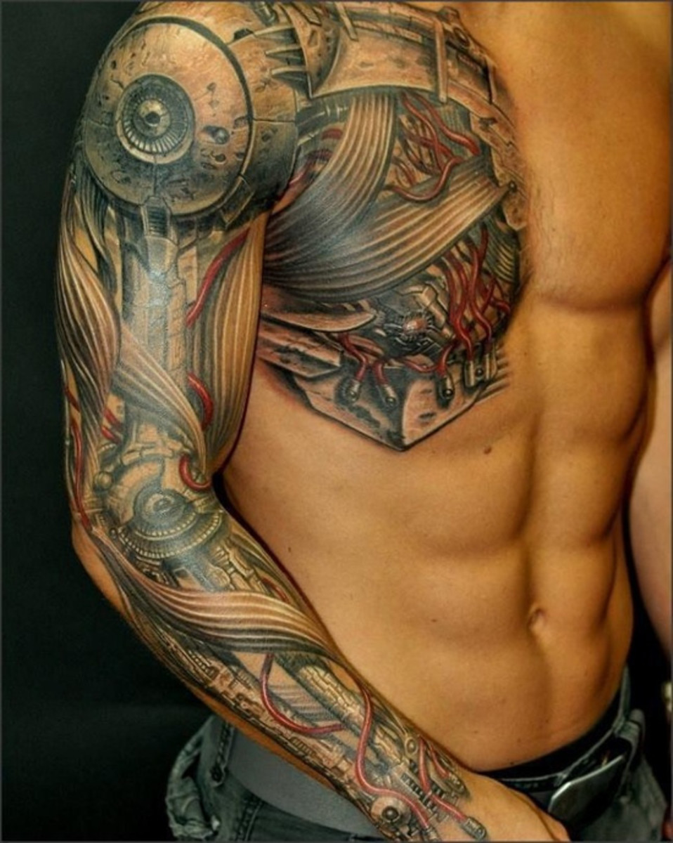 Full sleeve and chest